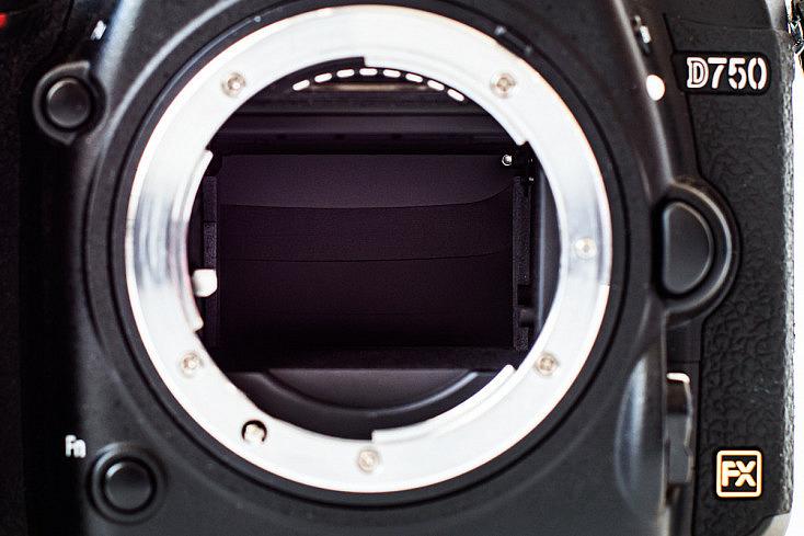 Immagen de obturador de plano focal de una D750