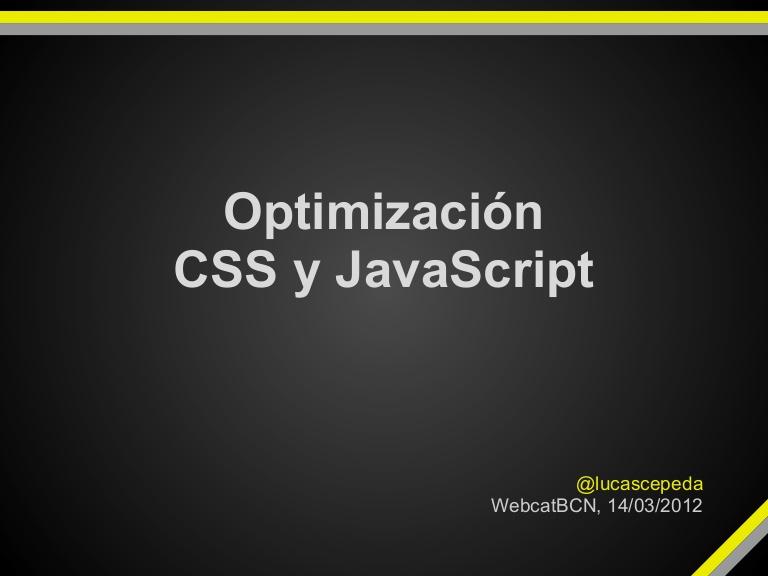 Optimización de JavaScript 6