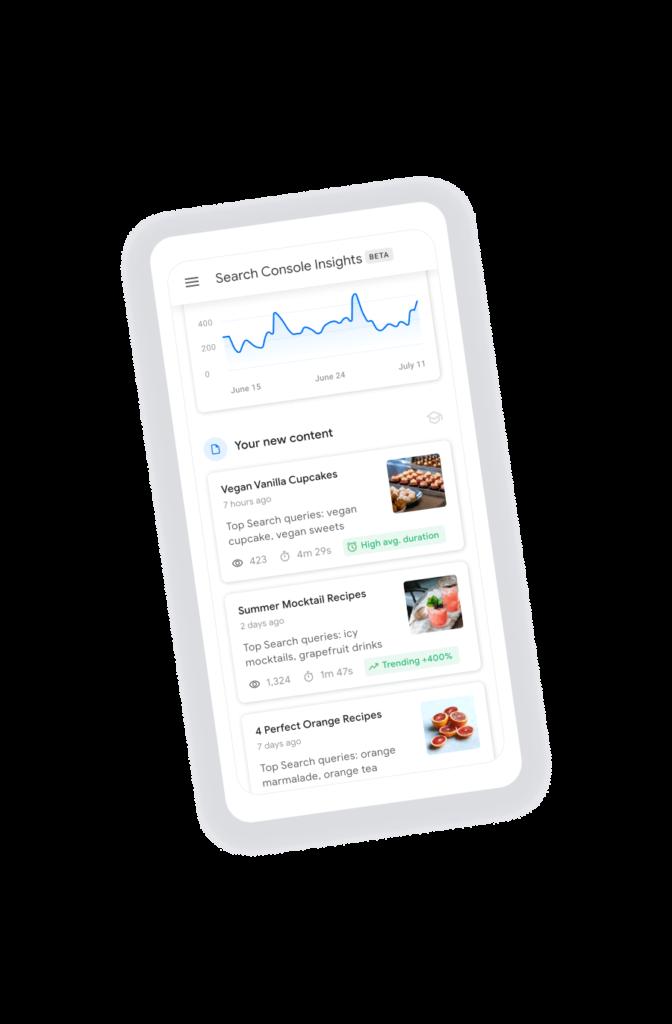 Search Console Insight de Google 4